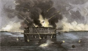 fort sumter bombardment2 300x176 Online Resource Guide for the Civil War